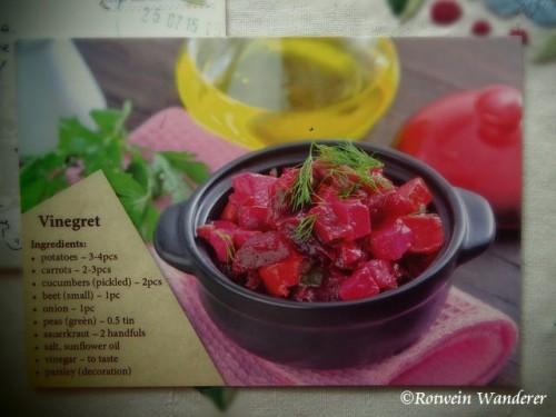 vinegret recipe postcard I received