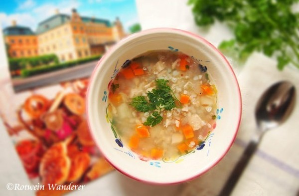 Grechka Soup w/ postcards from St Petersburg