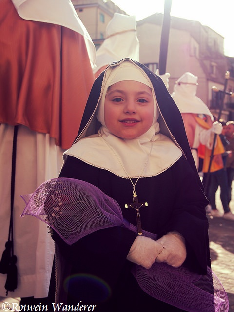 Holy Monday in Enna,Sicily