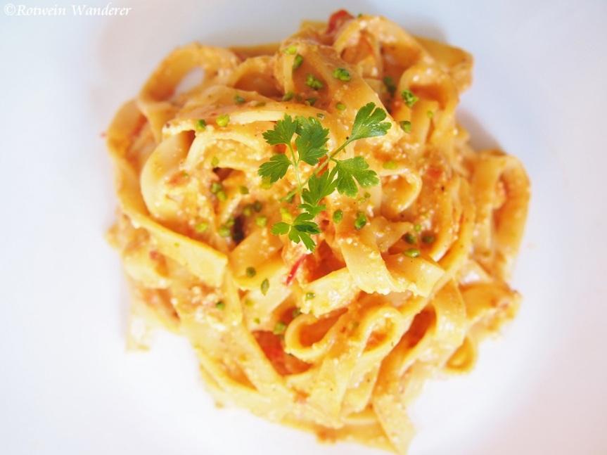 Sicily and Lemony Ricotta Fettuccine with Tomato &Pistachio