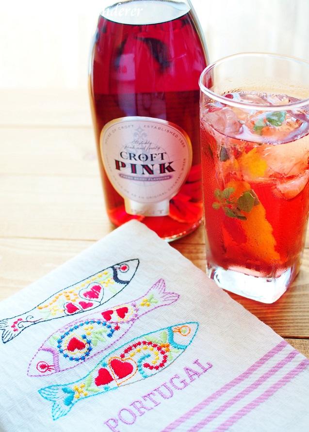 Pink Tonic and Pinhão,Portugal